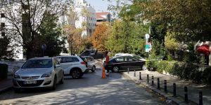 İran Büyükelçiliğinde hareketli anlar