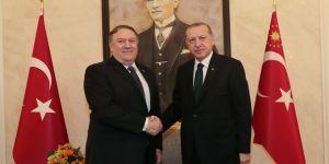 Erdoğan, Pompeo ile görüşüyor