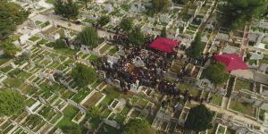 Ara Güler'in cenaze defin töreni havadan görüntülendi