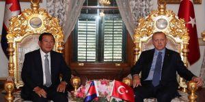 Erdoğan, Hun Sen'i kabul etti