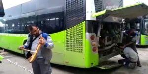 Kemençeli türkülü otobüs tamiri
