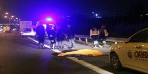 TEM'de feci kaza: Bozulan aracın başında bekleyenlere tır çarptı