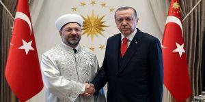 Erdoğan, Erbaş'ı kabul etti