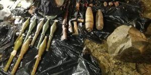 PKK'ya ait patlayıcı ve mühimmat ele geçirildi