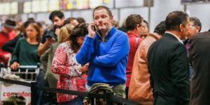 Grev, yüzlerce yolcuyu mağdur etti