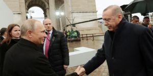 Erdoğan ve Putin'den samimi sohbet