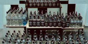 240 şişe sahte içki ele geçirildi