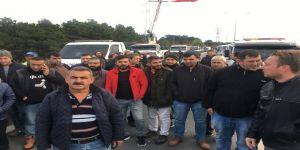 TEM'de çekicilerden 'FSM Köprüsü' eylemi