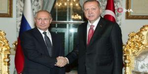 Erdoğan-Putin arasındaki ikili görüşme başladı