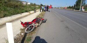 Motosikletten düşen 14 yaşındaki çocuk hayatını kaybetti