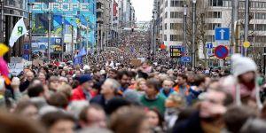 Brüksel'de çevre protestosu