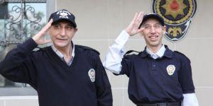 Engelli kardeşler 1 günlüğüne polis oldu