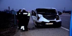 Banka para nakil aracı kaza yaptı: 1 ölü, 1 yaralı
