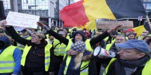 Belçika'da 50 'Sarı Yelekli' gözaltına alındı