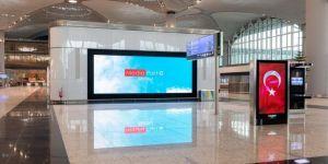 İstanbul Havalimanı'na bin metrekarelik LED ekran