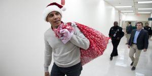Obama, Noel Baba kılığına girdi