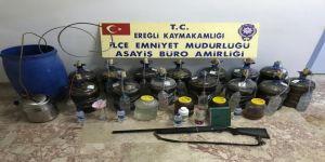 Polisten sahte içki imalathanesine baskın