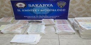 Sakarya'da 1 milyon 819 bin 200 TL sahte para ele geçirildi