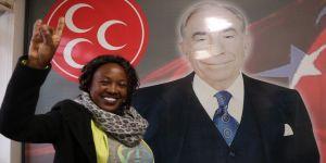 Etiyopyalı, MHP'ye üye oldu