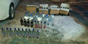 Damacanada sahte içki ele geçirildi