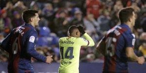 Barcelona, Levante'ye 2-1 yenildi