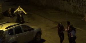 Kızlı erkekli sokak kavgası