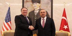 Çavuşoğlu ile Pompeo Suriye'yi görüştü