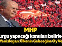 MHP vurgu yapacağı konuları belirledi