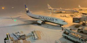 İngiltere'de yoğun kar yağışı