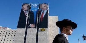 Netanyahu'nun partisinin seçim afişinde Trump fotoğrafı