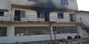 Gemlik'te mermer fabrikasında yangın