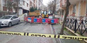 İstanbul'da altyapı çalışmaları sırasında göçük