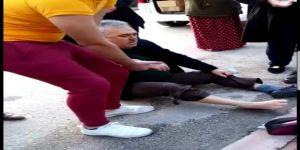 Kaldırımda yürüyen yaşlı adama Pitbull saldırdı
