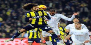Spor Toto Süper Lig: Fenerbahçe: 1 - Atiker Konyaspor: 1 (İlk yarı)