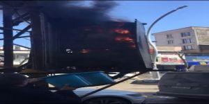 Aşırı yüklemeden dolayı elektrik trafosu yandı