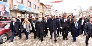 Cumhur İttifakı adayları Ilgın ve Doğanhisar'da vatandaşlardan destek istedi