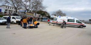 Biga'da iki motosiklet kafa kafaya girdi