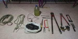 Telefon kablosu hırsızları yakalandı