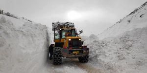 Yaylalarda karla mücadele devam ediyor
