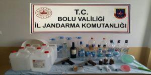 Bolu'da sahte içki imalathanelerine operasyon: 7 gözaltı