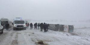 Tekirdağ'da yolcu otobüsü devrildi: 5 yaralı