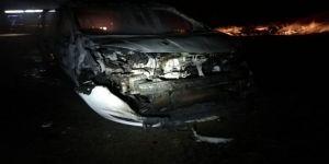 Otomobil Alev Alev Yandı: 4 Yaralı