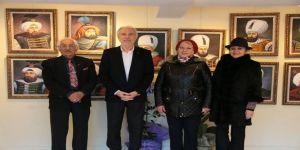 Başkan Saraçoğlu, Ressam Özkan'ın Sergisini Ziyaret Etti