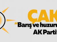 """Çakır """"Barış ve huzurun teminatı AK Parti'dir"""""""