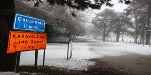 Kazdağları'nda Kar, Sahilde Fırtına