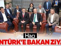 Hacı Aslantürk'e bakan ziyareti