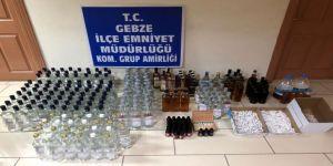 Kocaeli'de Kaçak Sigara Ve İçki Operasyonu