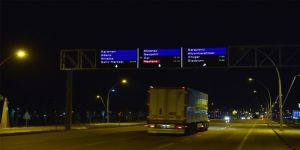 Konya'da Trafiğini Rahatlatacak Akıllı Ekranlar Test Ediliyor
