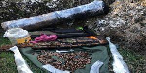 Diyarbakır'da toprağa gömülü PKK'ya ait silah ve mühimmat bulundu