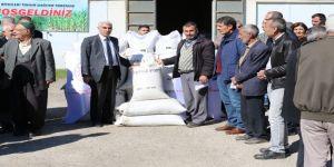 Elazığ'da Çiftçilere, Tohum Dağımı Yapıldı